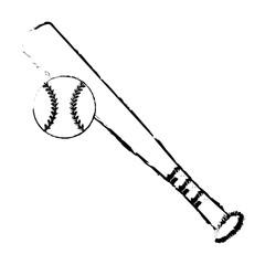 baseball bat ball sport image sketch vector illustration eps 10