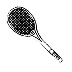 tennis racket sport icon sketch vector illustration eps 10