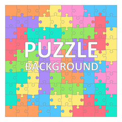 Children's Puzzles background with colored tetris shapes. 100 pieces.