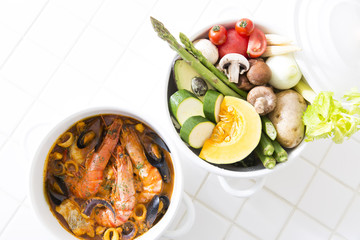 キッチンの鍋
