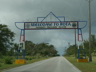 Welcome to Rota, Northern Mariana Islands Welcome gate to Rota just a few meters away from the Rota International Airport.