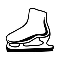 black silhouette ice roller skate icon vector illustration