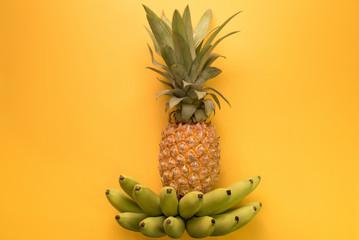 Thai pineapple and banana