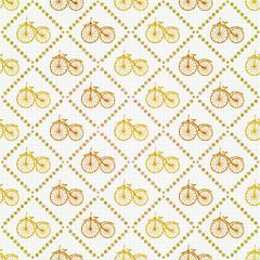 Seamless bicycles pattern. Stylish sporty print