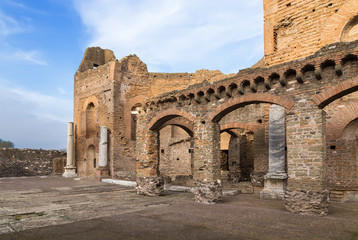 Rome, Italy. Ancient ruins of the villa Quintili, II century AD