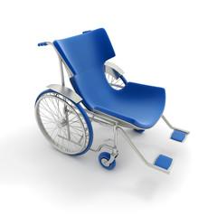 Blue modern wheelchair
