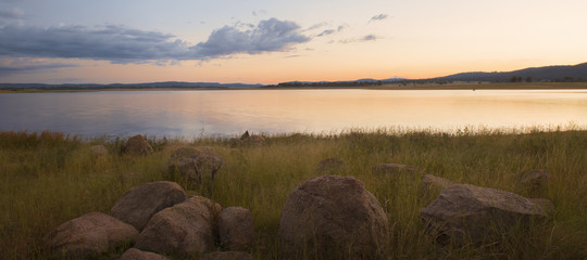 Lake Leslie near Warwick, Queensland in the late afternoon.