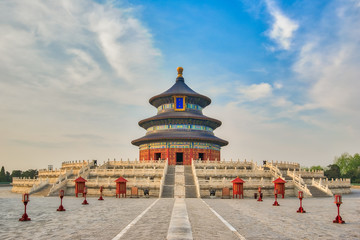 Hall of Prayer for Good Harvests in Temple of Heaven in Beijing city, China