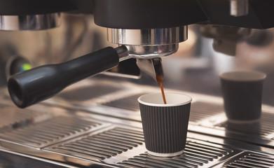 Making coffee with a coffee machine