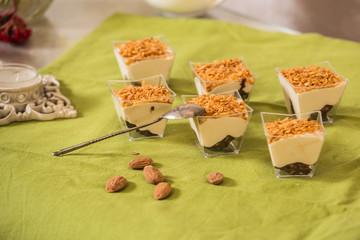 Sweet dessert of mousse halva