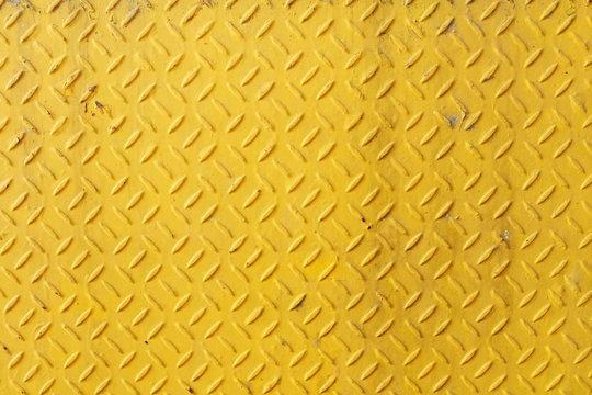 Old Yellow Diamond Plate Background.