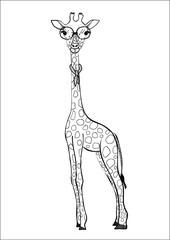 Hand drawn giraffe.