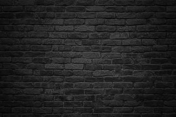 Printed roller blinds Brick wall black brick wall, dark background for design