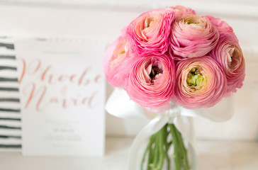 Small pink ranunculus bouquet