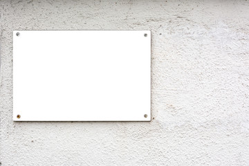 Blank Advertisement Sign City Urban Public White Isolated Clipping Path