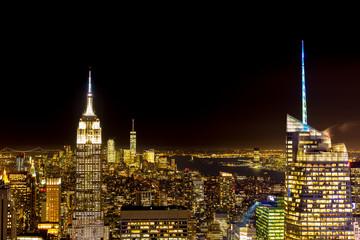 New York night skyscraper