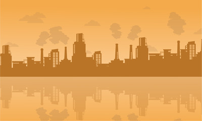 Bad environment with industry on city