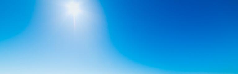 Sun shining in the clear sky