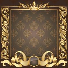 Retro ornate decorative background