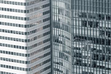 Hochhäuser Fensterfront Abstrakt
