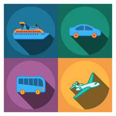865414 four flat travel company icons