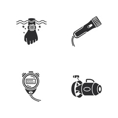 865413 four cute diving icons
