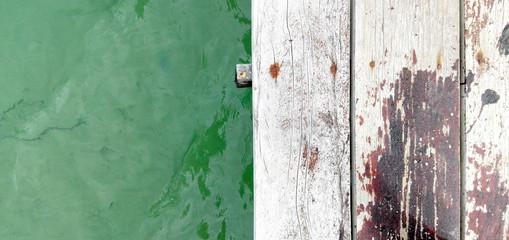 Texturas mar y madera