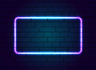 Neon sign frame blank.