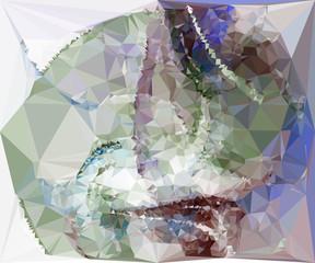 Geometric low polygonal background. vector clip art.
