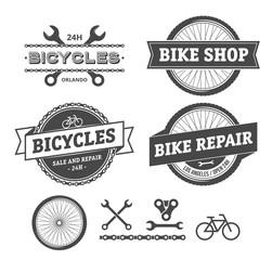 Bike shop and repair emblems