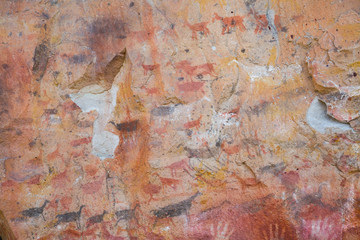 Cave paintings in Cueva de las Manos