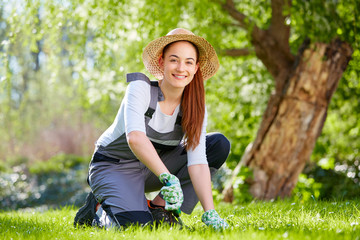 Young woman at gardening