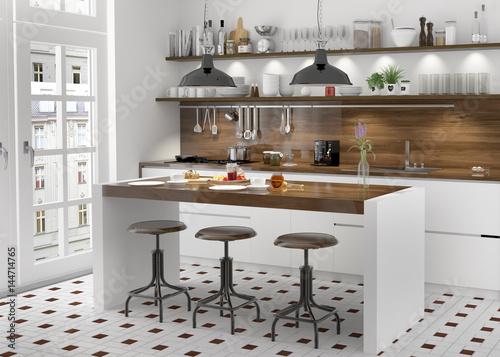 Küche Einbauküche weiss Küchenzeile Kücheblock Kochinsel ...   {Einbauküche weiß 24}