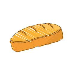 drawing bread dessert food shadow vector illustration eps 10