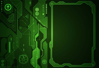 Abstract green digital communication technology background.