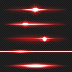 Obraz Red laser beams pack - fototapety do salonu