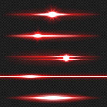 Red laser beams pack
