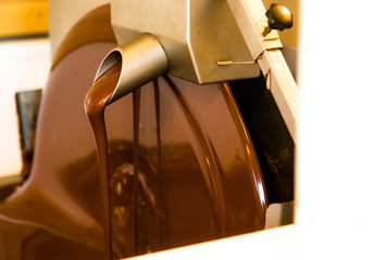 Liquid chocolate mixerl in chcolate factory