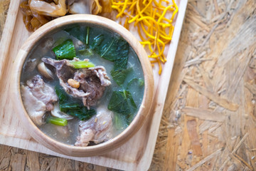 "Thai Noodles Topped with Pork. Thai called ""Rad Na"""