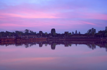 Angkor Wat with reflection, Cambodia