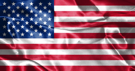 United States of America Flag 3D illustration