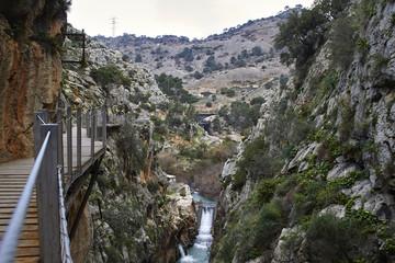 Fototapete - Valle del Hoyo and Caminito del Rey