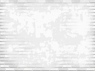 White stucco wall and raised brick masonry. Vector vintage background.