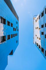 Immeubles dans le quartier de Confluence à Lyon