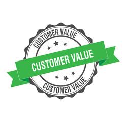 Customer value stamp illustration