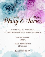 Wedding invitation teplate.