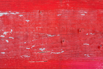 Red painted wood board background texture