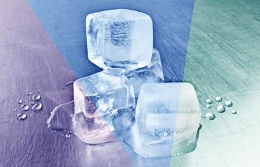 Klare Eiswürfel - Edelstahl