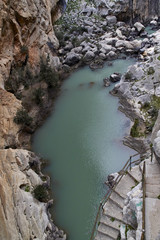 Wall Mural - Caminito del Rey, old path leading down to the Guadalhorce river