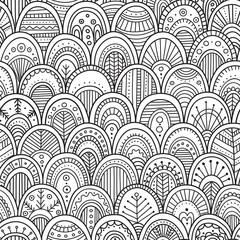 ornamental scallops seamless pattern